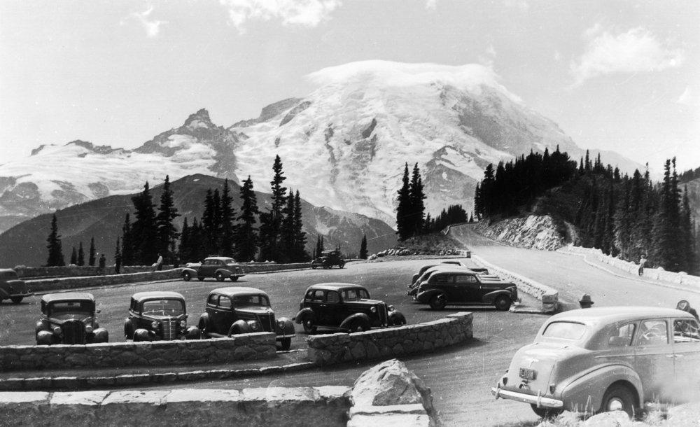 MT。レーニア山国立公園、ワシントン – MT。Rainierビューから観測点 36 x 54 Giclee Print LANT-13154-36x54 36 x 54 Giclee Print  B01M7T2X8Y