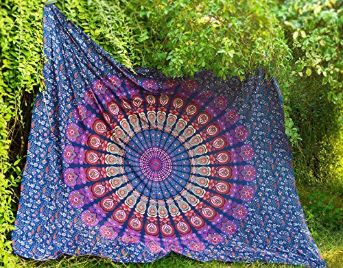 Future Handmade Beautiful Large Mandala Queen tapestry wall tapestry hippie tapestry wall hanging Indian psychedelic tapestry mandala beach throw boho…