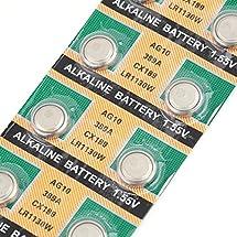10 pcs AG10 LR1130 389A LR54 L1131 189 Alkaline Cell Button Battery