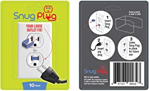 Snug Plug - Your Loose Outlet Fix (10/Pack Clear)