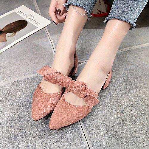 punta con studenti e yalanshop dolce Tie in Bassa e rosa raso scarpe Bow unico il scarpe 38 filtro EqTR5Tw