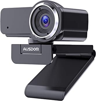 Ausdom 1080P Full HD Webcam with Microphone