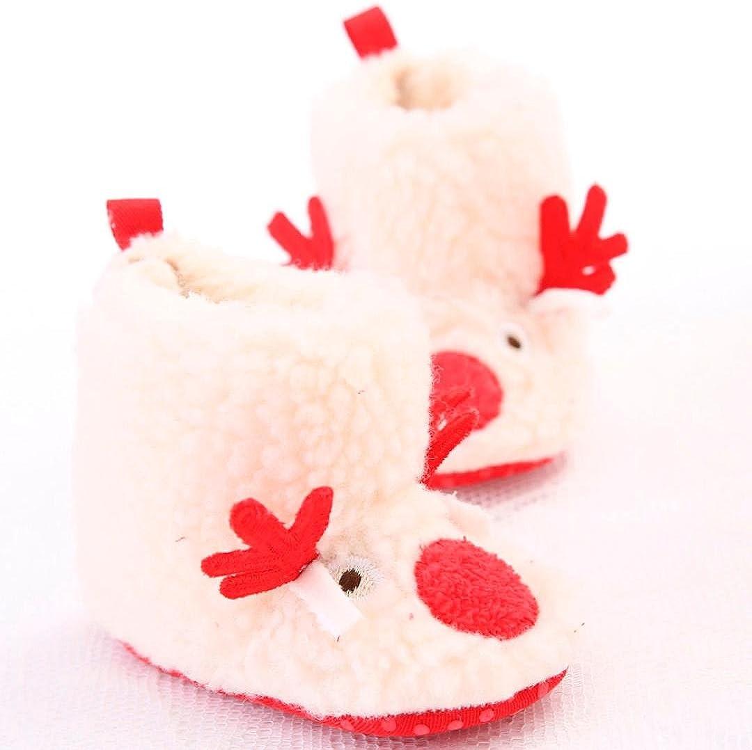 TM Christmas Baby Toddler Infant Snow Boots Soft Sole Prewalker Crib Shoes Elevin