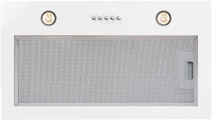 CATA G 50 LUX GWH 400 m³/h Encastrada Blanco C - Campana (400 m³/h, Canalizado/Recirculación, E, A, D, 62 dB): Amazon.es: Grandes electrodomésticos