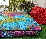GANESHAM Indian boho floor cushion ottoman pillow shams Review and Comparison