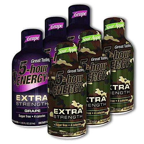 5 Hour Energy, 12 Extra Strength Grape + 12 Extra Strength Sour Apple, 24 Count from 5 Hour Energy