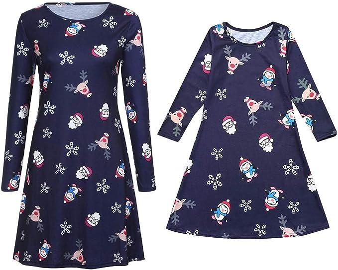 Amazon.com: Lurryly❤Family Christmas Dresses Set Sleepwear ...