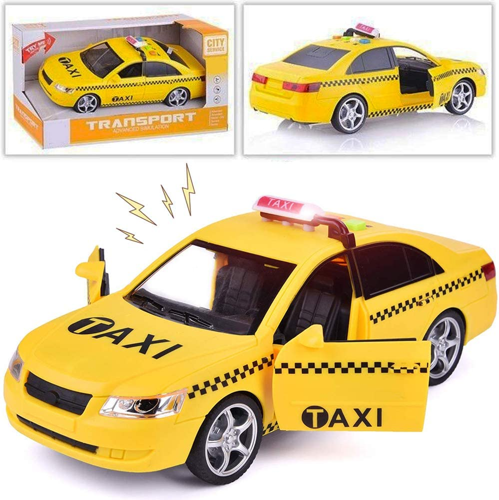 amazon com liberty imports friction powered yellow taxi cab toy car vehicle with lights and sounds 9 5 inch toys games liberty imports friction powered yellow taxi cab toy car vehicle with lights and sounds 9 5 inch
