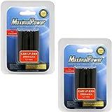 MaximalPower Battery 2-Pack for Canon LP-E6N LP-E6 Batteries. Fits EOS 5D Mark III 5DS R 70D 60D 7D Mk II 6D