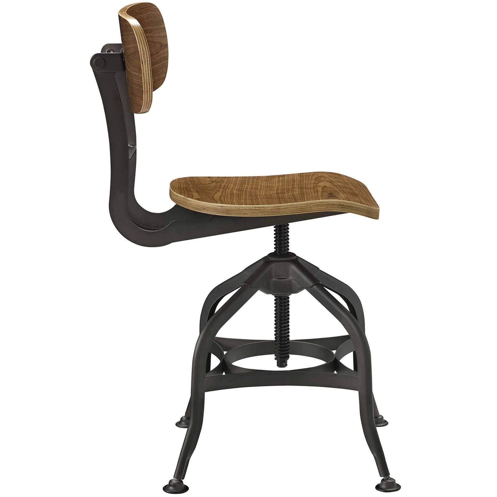 Modway Mark Industrial Dining Stool, Brown by Modway (Image #2)