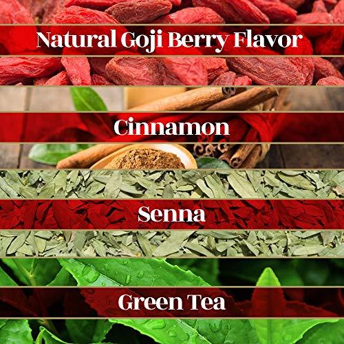 Riston Slim Tea Goji Berry Slim Tea Green Detox Tea 100% Natural Herbal Promotes Energy and Vitality, Individually Foil Wrapped Herbal Tea | 20 Tea Sachets/pack (Goji Berry) 2