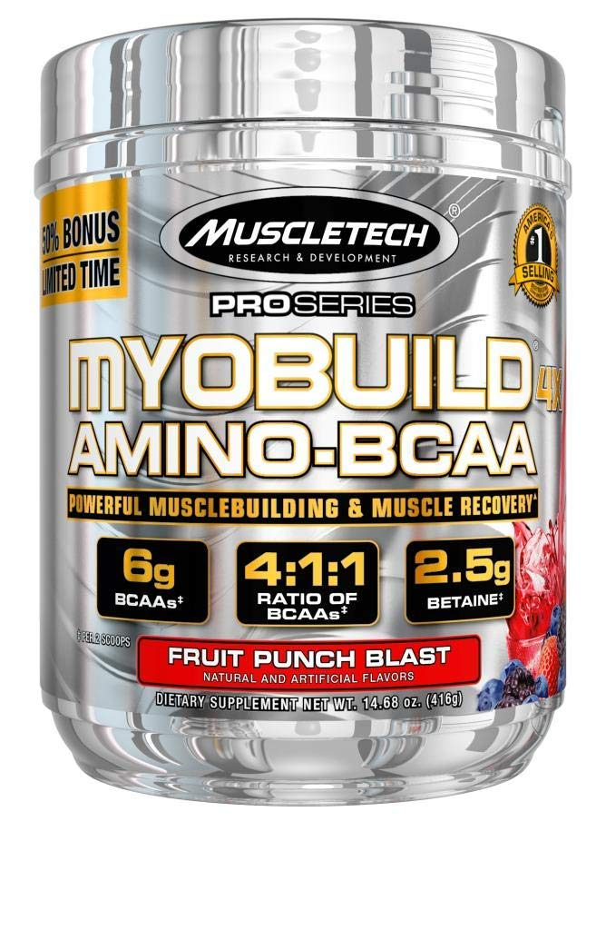 Muscletech Pro Series Myobuild 4X 45 Servings Bonus Fruit Punch Blast, 14.68 Ounce by MuscleTech (Image #1)