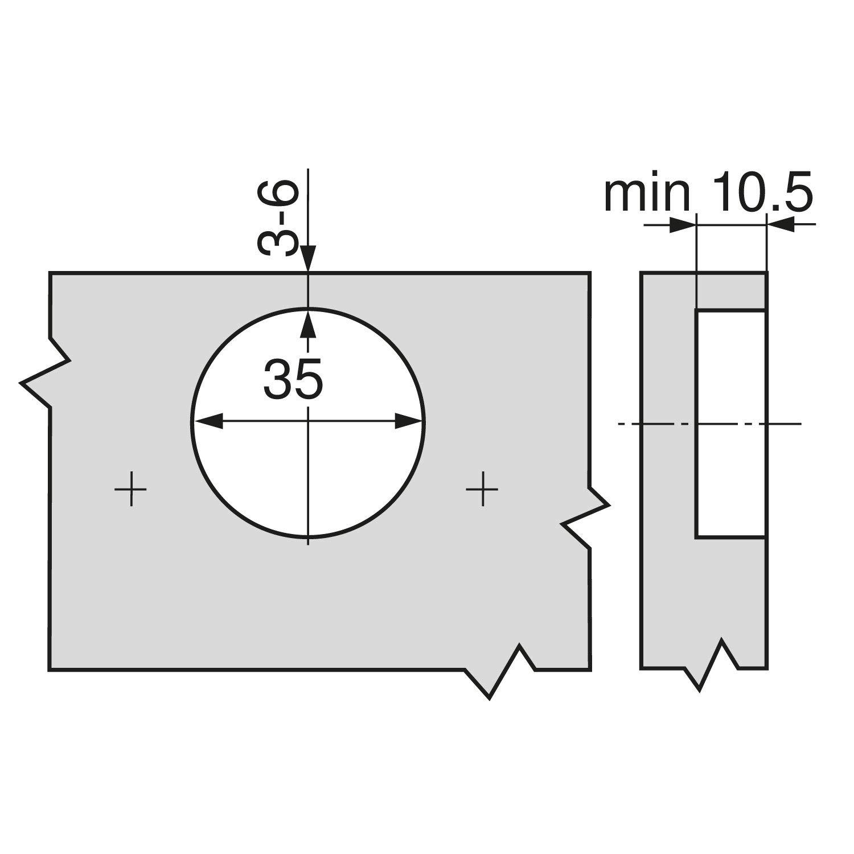 Blum CLIP 71M2550 Bisagra para armario