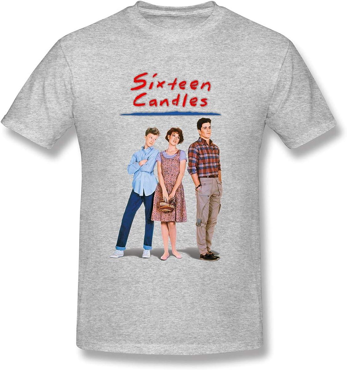 Amazon Com Donaldjchisholm Men S Short Sleeve With Men Sixteen Candles Wallpaper T Shirts Gray Clothing