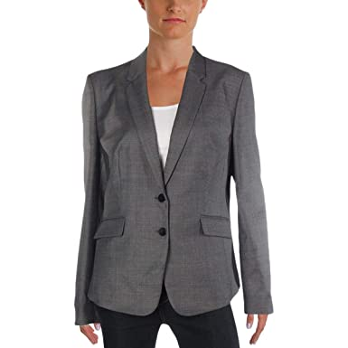 4014b6eec Hugo Boss Womens Jalinera Basic Wool Double-Breasted Suit Jacket Gray 2