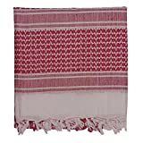 Shemagh, Arab Head Scarf, Kafiya, Red & White(42
