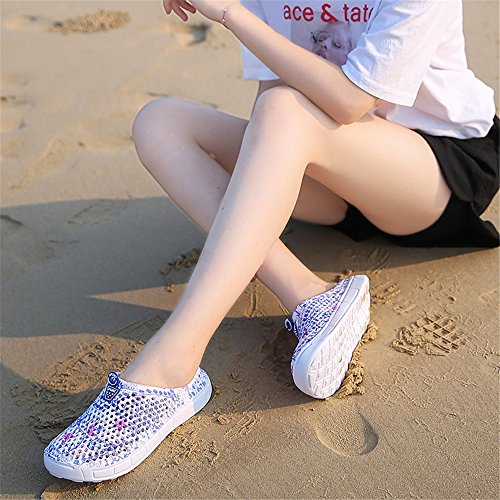 Quick 0n Swimming Sneakers Blue2773 Water Shoes Breathable Beach Slip Lightweight AIRAVATA Women Hole for Dry Clogs Summer Athletic FqRwa0BY