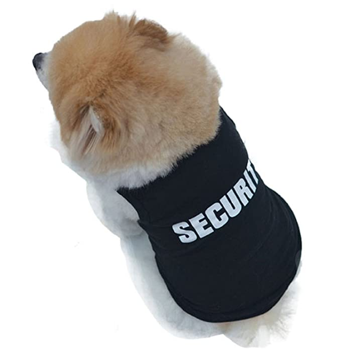 Amazon.com : 2016 Newly Design SECURITY Black Dog Vest Summer Pets Dogs Cotton Clothes Shirts Apparel Ropa para perros (L) : Pet Supplies
