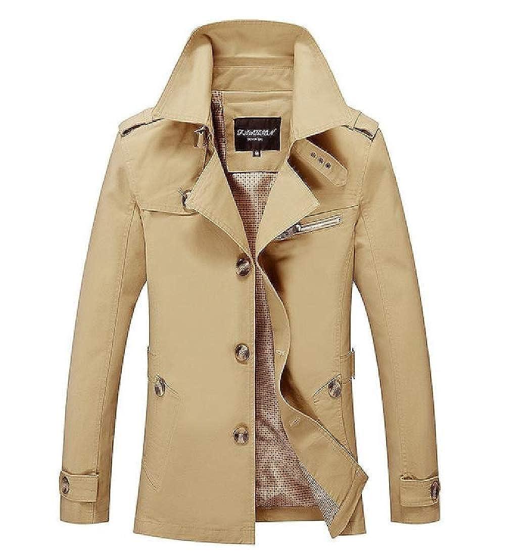 Freely Men's Coat Rain Jacket Vintage Wash Outwear Coat Relaxed-Fit FreelyMen