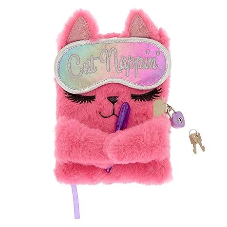 Amazon.com: Claires Kylie The Cat - Agenda de felpa para ...