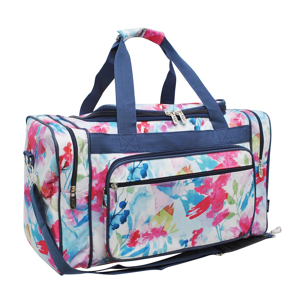 Summer Watercolor NGIL Canvas Carry on 20'' Duffle Bag