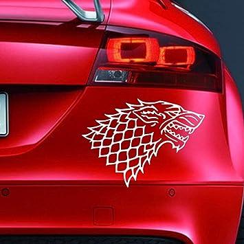 Vinyl Aufkleber Motiv House Of Stark Game Of Thrones Lustiger Aufkleber Für Auto Fenster Stoßstange Motorsport Jdm Euro Wohnwagen Cartoon Fahrrad Roller Auto