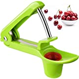 TopElek Cherry Pitter or Stoner, Cherry Core or Seed Remover, Kitchen Gizmo with Scoop Design for One Hand Operation