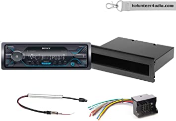 2003 vw jetta monsoon stereo wiring amazon com sony dsx a415bt single din radio install kit with  sony dsx a415bt single din radio