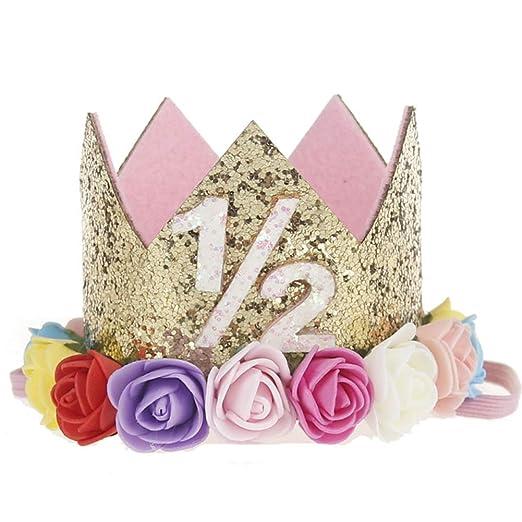 Naisicatar Princesa Tiara Corona Bandeaux de número bebé 1/2 ...