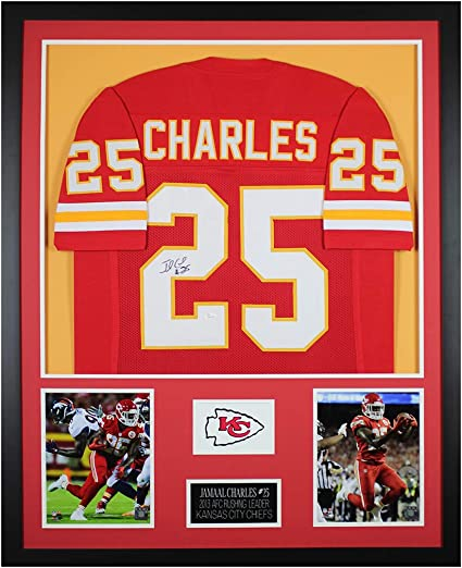 Jamaal Charles Autographed Red Kansas City Jersey - Beautifully ...