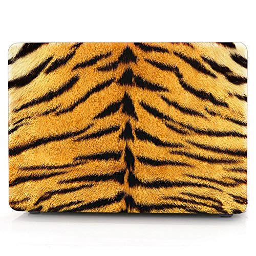 HRH 3D Tiger Fur Pattern Design Laptop Body Shell Protective Rubberized Hard Case for Apple The New Macbook 12