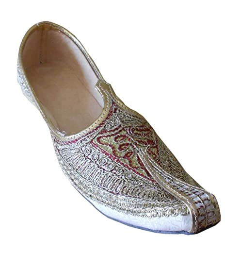 Jutti Wedding Groom Men Shoes Indian Flip-Flops mojaries Flat Loafers