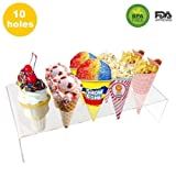 Easy to Assemble Round Acrylic Sugar Cone Holder