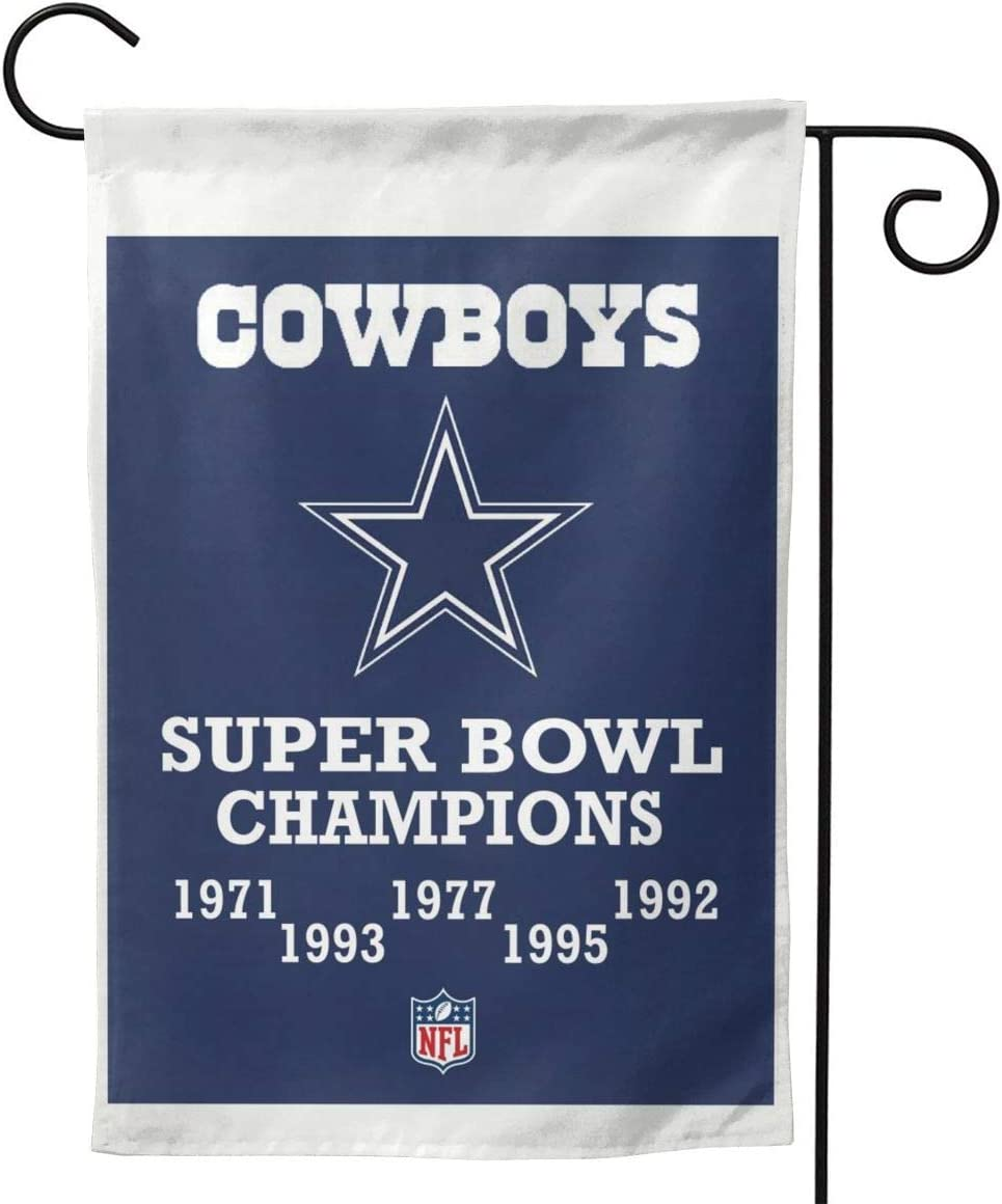 Stockdale Cowboys Champions Flag 5 Time Super Bowl House Garden Flags Banner