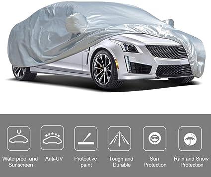 Universelle B/âche de Protection Auto Anti-poussi/ère UV Soleil Neige Pluie Bandes de S/écurit/é XXL VISLONE B/âche Auto Housse