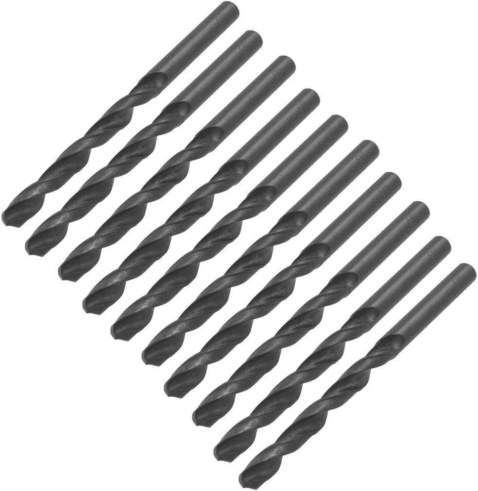 60mm Long 3mm Dia Straight Shank Twist Drilling Bit for Electric Drill 10PCS