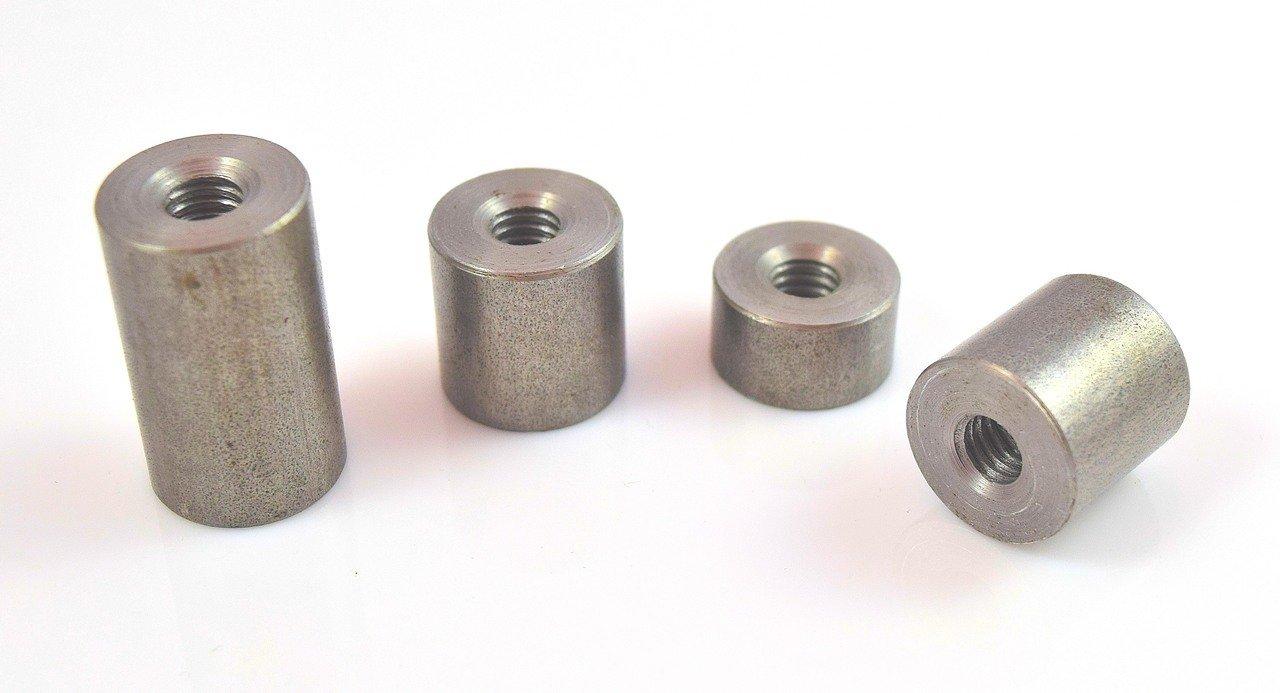 BungKing 3//8 NPT Stepped Bungs Mild Steel 4 pack