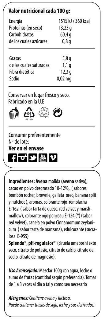 Max Protein Harina de Avena 1,5 kg Banana Split: Amazon.es: Salud y cuidado personal