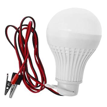 SODIAL(R) E27 7W Bombilla LED Emergencia Camping Caza Outdoor Lamparas Luz DC 12V: Amazon.es: Deportes y aire libre