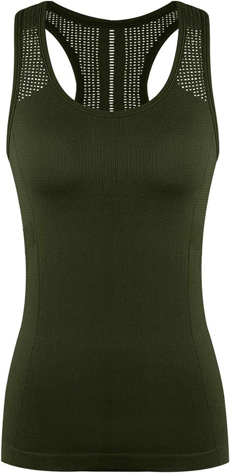 Yoga Tops for Women Cute Workout Tank Tops Activerwear Racerback Laser Cut Tank Running Sports Shirts