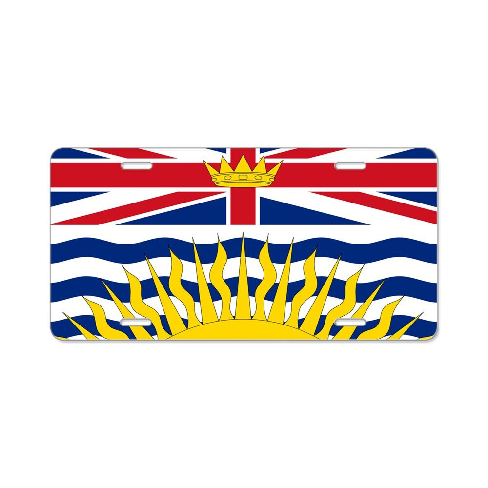 Front License Plate CafePress Vanity Tag Aluminum License Plate British Columbian Flag Aluminum License Plate