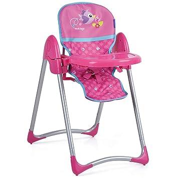 Hauck Toys - Trona para Muñecas UpŽn Down DELUXE - Altura regulable, Bandeja para comer extraíble, con Cinturón de seguridad y plegable - Birdie Pink: ...