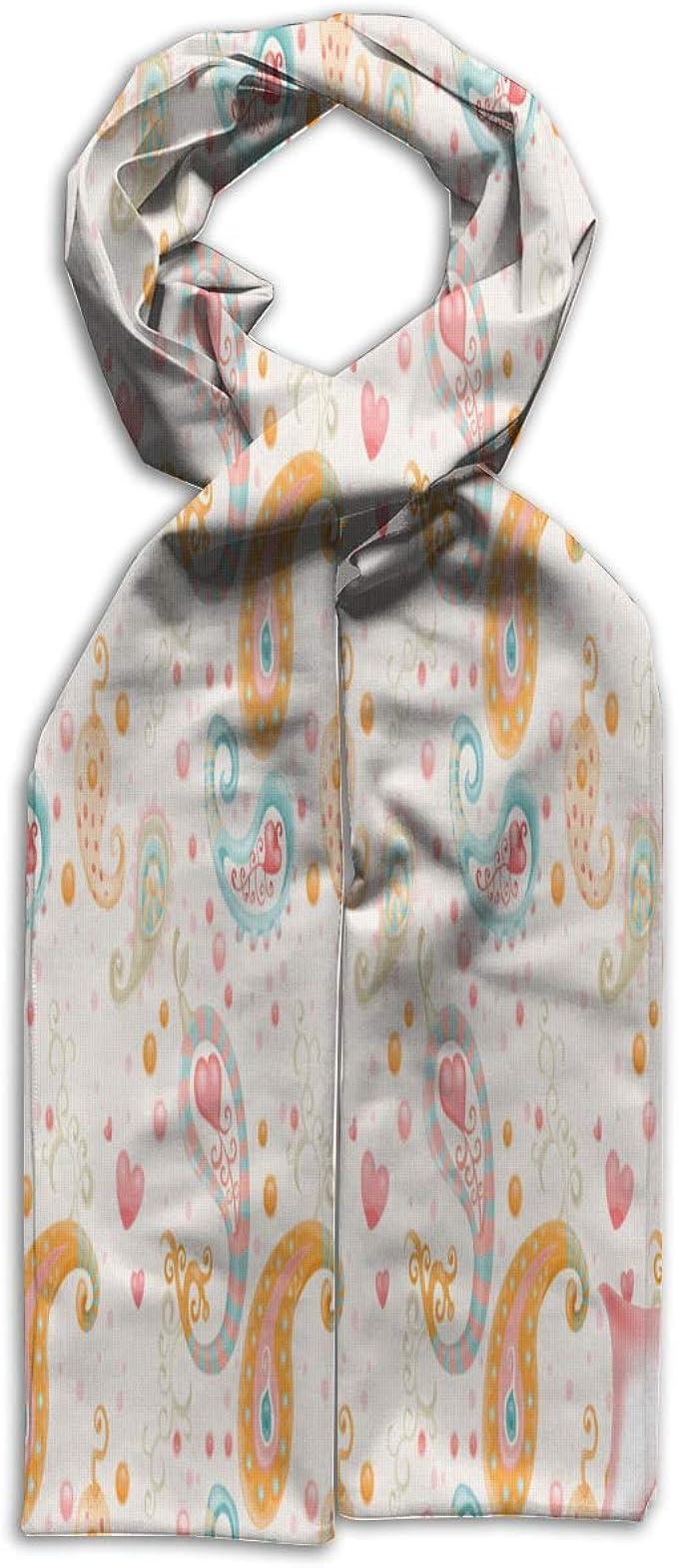 Kids Scarf Paisley Orange Blue Scarves Winter Warm Bandelet For Child