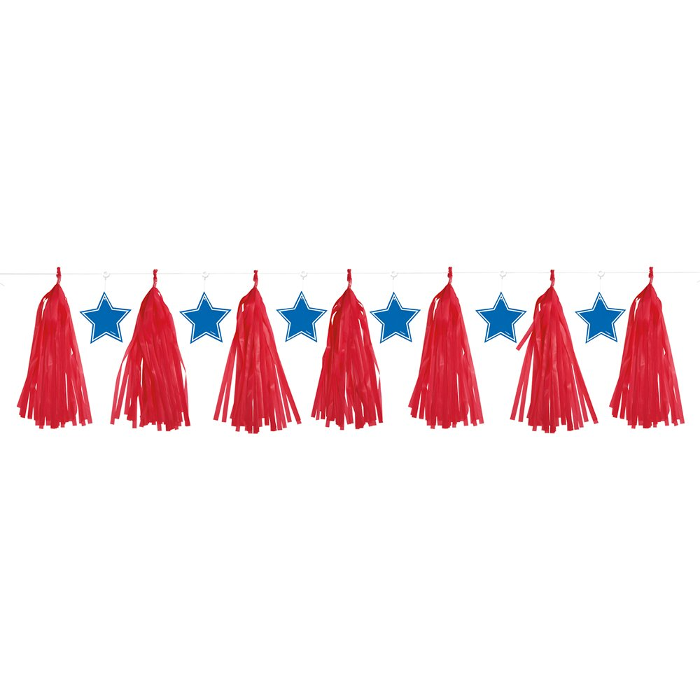 Red and Blue Patriotic Tassels