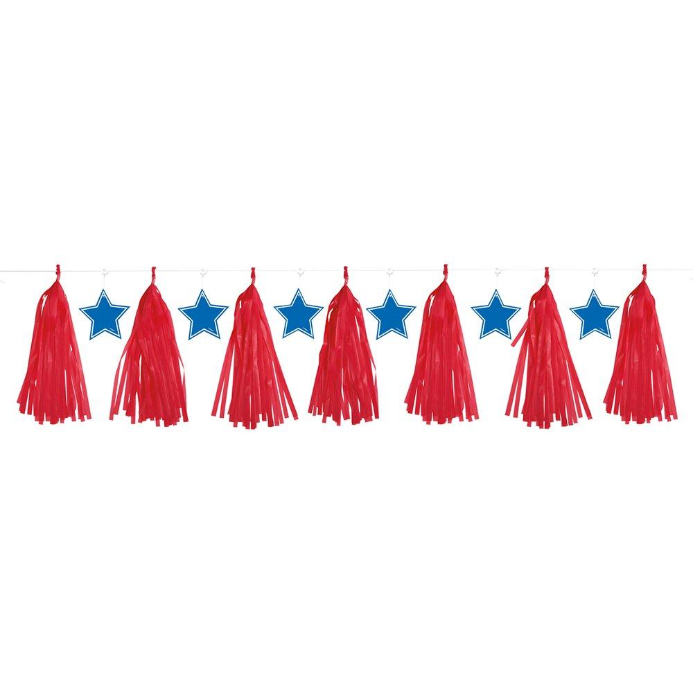 Red and Blue Patriotic Tassels