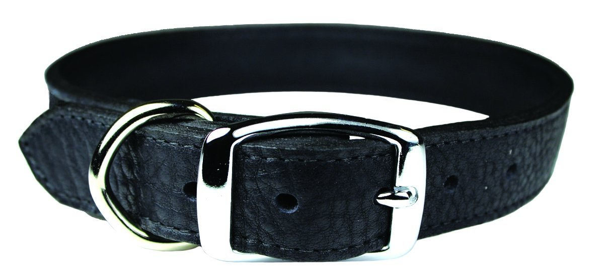 Black 1\ Black 1\ OmniPet 6268-BK26 Luxe Leather Dog Collar, Black, 1  x 26