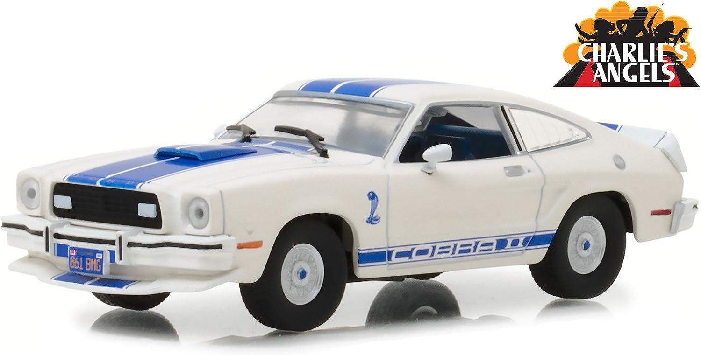 TV Series 1//43 Diecast Model Car by Greenlight 86516 1976 Ford Mustang Cobra II WhiteCharlies Angels 1976-1981