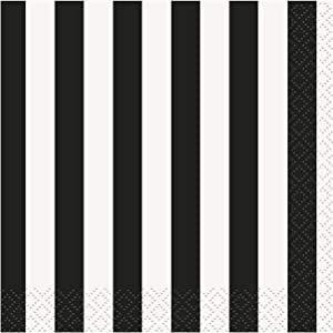 Unique Beverage Napkins, One Size, Black
