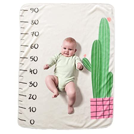 40 Decdeal Beb/é Manta Mensual Hito Franela como Fondo Fotogr/áfico para Beb/é Reci/én Nacido con Estampado Floral 28