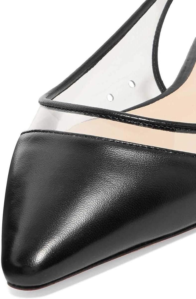 FSJ Women Trendy Pointed Toe Ballet Flats Slip on Comfort Slingback Pumps Walking Shoes Size 4-15 US